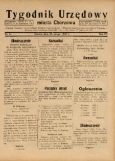 Tygodnik Urzędowy Miasta Chorzowa, 1937, R. 4, nr 8