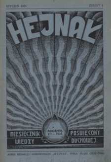 Hejnał, 1935, R. 7, z. 1