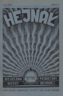 Hejnał, 1935, R. 7, z. 2