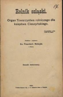 Rolnik Szląski, 1901, Nry 1-24