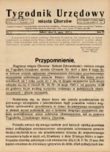 Tygodnik Urzędowy Miasta Chorzowa, 1937, R. 4, nr 19