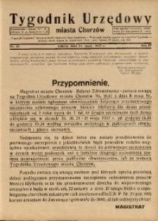 Tygodnik Urzędowy Miasta Chorzów, 1937, R. 4, nr 20
