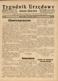 Tygodnik Urzędowy Miasta Chorzów, 1937, R. 4, nr 22