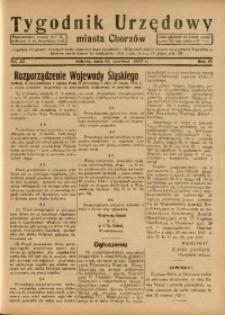 Tygodnik Urzędowy Miasta Chorzowa, 1937, R. 4, nr 23