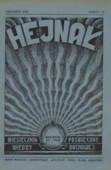 Hejnał, 1935, R. 7, z. 12