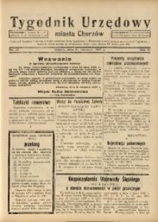 Tygodnik Urzędowy Miasta Chorzów, 1937, R. 4, nr 32