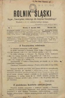 Rolnik Śląski, 1903, Nry 1-24