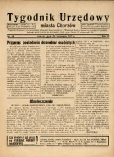 Tygodnik Urzędowy Miasta Chorzowa, 1937, R. 4, nr 44