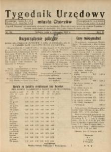 Tygodnik Urzędowy Miasta Chorzów, 1937, R. 4, nr 45