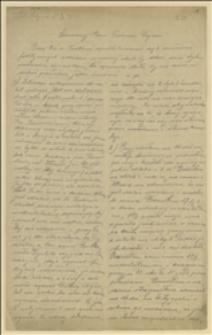List Adolfa Stuchlika z Lutyni Polskiej z 23.07.1917, opisujący atmosferę przy wydawaniu przydziałów w okresie rozruchów