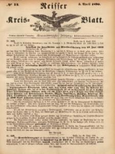 Neisser Kreis-Blatt, 1890, Jg. 49, nr14