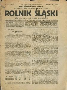 Rolnik Śląski, 1925, Nry 3-4, 11, 18-20, 22, 25-30, 41, 45-50