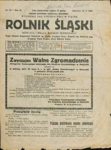 Rolnik Śląski, 1926, Nry 2, 19-29, 33-36, 47-51/52