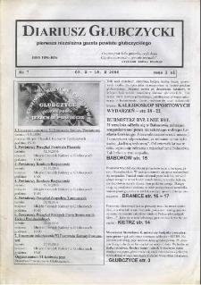 Diariusz Głubczycki : pierwsza niezależna gazeta powiatu głubczyckiego 2006, nr 7.