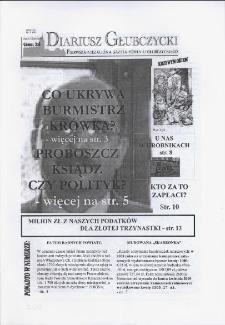 Diariusz Głubczycki : pierwsza niezależna gazeta powiatu głubczyckiego 2009, nr 2 (13).