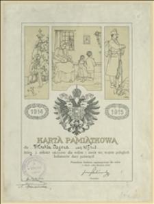 Dyplom dla Witolda Regera, ucznia 3. klasy szkoły ludowej za dary na rzecz wdów i sierot wojennych