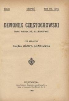 Dzwonek Częstochowski : pismo miesięczne, illustrowane, 1902, R.2, T.8(14) - sierpień