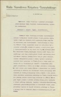 Stanowisko rządu Polskiego w sprawach poruszonych przez memorjał Rządu Republiki Czechosłowackiej