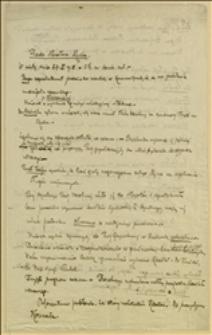 Notatki Tadeusza Regera z posiedzenia Rady Narodowej Księstwa Cieszyńskiego w Cieszynie, 27.10.1918