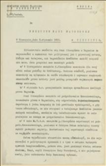 Pismo pułkownika Franciszka Latinika z Dowództwa Okręgu Śląskiego w Cieszynie do Prezydium Rady Narodowej Księstwa Cieszyńskiego w sprawie prób nieuzasadnionego i niezgodnego z przepisami wykorzystania kompetencji przez Dorotę Kłuszyńską, Cieszyn, 09.01.1919