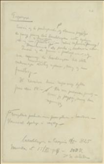 Notatki Tadeusza Regera na temat sposobów rozwiązania problemu bezrobotnych, 14.01.1919