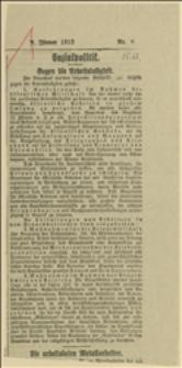 """Artykuł z czasopisma """"Arbeiter Zeitung"""" o zwalczaniu bezrobocia"""