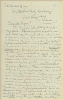 List Antoniego Steffka do członków Rady Narodowej Księstwa Cieszyńskiego przedstawiający sytuację w Trzyńcu po zajęciu przez wojska czeskie i sprawę obrony Istebnej, 01.02.1919
