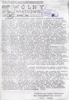 Wolny Związkowiec, 1987, nr 56