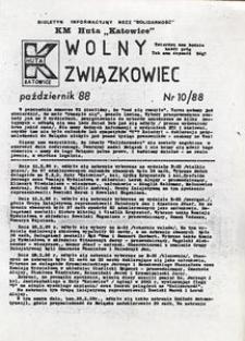 Wolny Związkowiec, 1988, nr 10