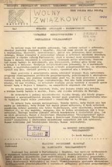 Wolny Związkowiec, 1989, nr 6 (Wydanie specjalne- przedwyborcze)