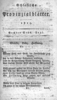 Schlesische Provinzialblätter, 1819, 69. Bd. 6. St.: Juni