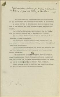 Projekt nowej umowy, przedłożony przez Šnejdárka posłowi Zamorskiemu na Konferencji mieszanej dnia 17.IV.1919 w Mor. Ostrawie