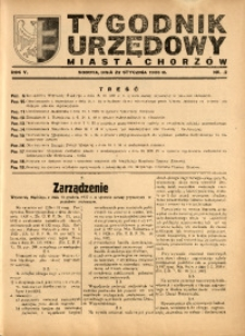 Tygodnik Urzędowy Miasta Chorzów, 1938, R. 5, nr 2