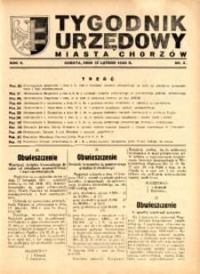 Tygodnik Urzędowy Miasta Chorzów, 1938, R. 5, nr 5