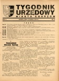 Tygodnik Urzędowy Miasta Chorzów, 1938, R. 5, nr 10