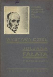 Wystawa dzieł Juljana Fałata w Katowicach. Jesień, 1930 roku