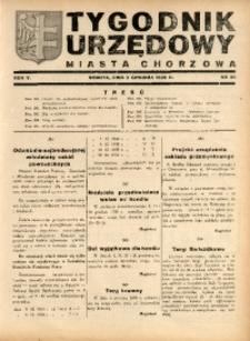 Tygodnik Urzędowy Miasta Chorzów, 1938, R. 5, nr 40