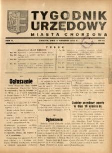 Tygodnik Urzędowy Miasta Chorzów, 1938, R. 5, nr 42