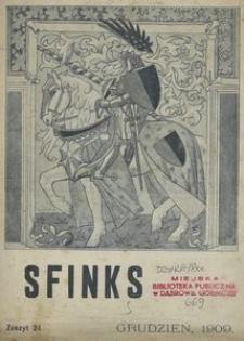 Sfinks. Czasopismo Literackie, Artystyczne i Naukowe 1909, nr 12