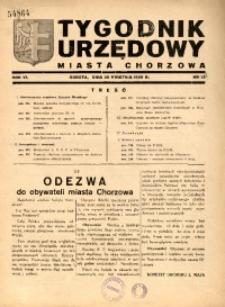 Tygodnik Urzędowy Miasta Chorzowa, 1939, R. 6, nr 16
