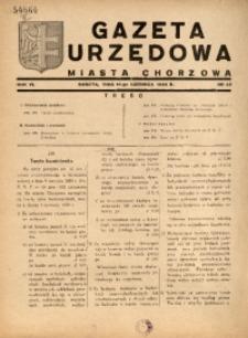 Gazeta Urzędowa Miasta Chorzowa, 1939, R. 6, nr 23