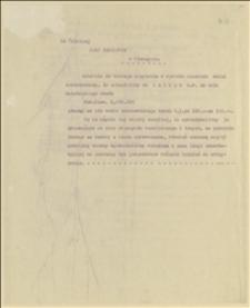 Pismo do Rady Narodowej Księstwa Cieszyńskiego w Cieszynie w sprawie zakupu dwóch milionów koron czeskich