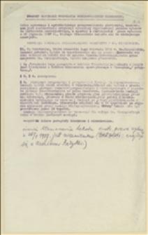 Projekt ordynancji normującej przeprowadzenie plebiscytu