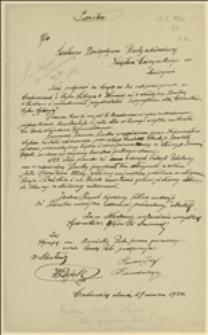 """Prośba górników z kopalni """"Silesia"""" o przydział spirytusu, Czechowice, 29.03.1920"""