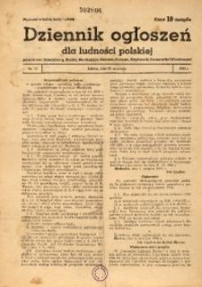 Dziennik Ogłoszeń Dla Ludności Polskiej, 1942, nr13