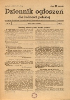 Dziennik Ogłoszeń Dla Ludności Polskiej, 1942, nr34