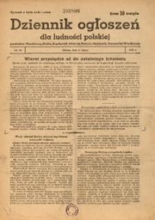 Dziennik Ogłoszeń Dla Ludności Polskiej, 1943, nr10