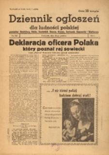 Dziennik Ogłoszeń Dla Ludności Polskiej, 1943, nr101