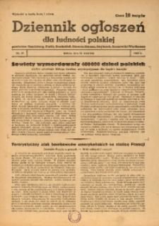 Dziennik Ogłoszeń Dla Ludności Polskiej, 1943, nr28
