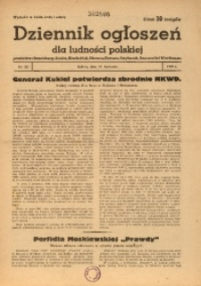 Dziennik Ogłoszeń Dla Ludności Polskiej, 1943, nr32